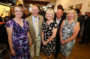 Nelsons Solicitors quarterly charity drinks events, supporting Nottingham Deaf Society. In photo from left: Diane Swift, Melcon Swift, Irene Andrews (NDS) Chris Jackson, Sally Jackson (Shoestring Promotions)