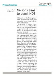 Nelson Aims To Boost NDS